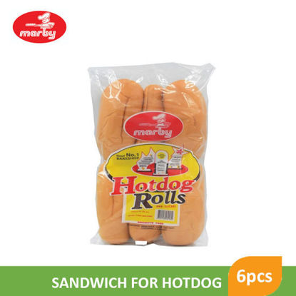 Picture of Marby Food Hotdog Rolls 6's - 12047