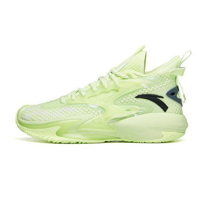 """Picture of Anta Shock The Game 5 """"Crazy Tide"""" 3.0 2021 Summer Basketball Shoes - Fluorescent green"""