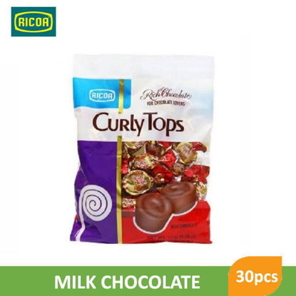 Picture of Ricoa Curly Tops Choco Candy 30pcs -  018294
