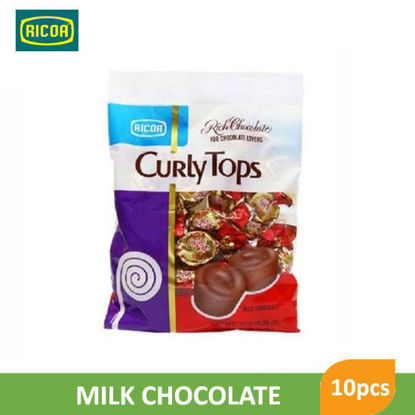 Picture of Ricoa Curly Tops Choco Candy 10pcs -  018295