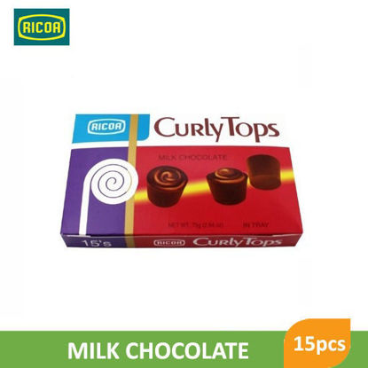Picture of Ricoa Curly Tops Choco Candy 15pcs -  018292